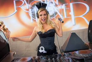Crystal Hefner Spins at Rehab