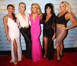 "Cast members of ""Sexxy"" at Westgate Las Vegas arrive on the red carpet for Lance Burton's ""Billy Topit: Master Magician"" on Thursday, Sept. 24, 2015, at the Palms."
