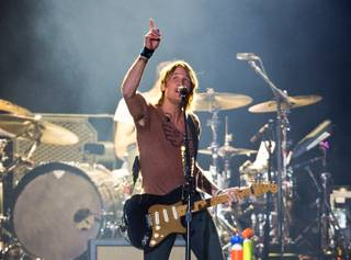 Keith Urban headlines the Main Stage during the Route 91 Harvest Country Music Fest on Saturday, Oct. 3, 2015, at Las Vegas Village.