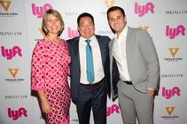 Lyft Chief Marketing Officer Kira Wampler, Remark Media Chairman and CEO Kai-Shing Tao and Lyft co-founder and President John Zimmer at the Lyft launch party Thursday, Sept. 24, 2015, at Lavo Casino Club in Palazzo.