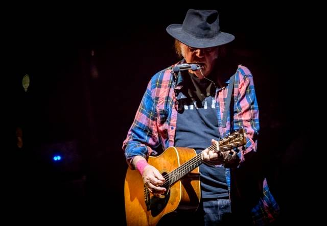 Neil Young at the Chelsea on Sunday, Oct. 11, 2015, in the Cosmopolitan of Las Vegas.