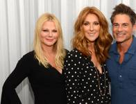 Sheryl Berkoff, Celine Dion and Rob Lowe backstage at the Colosseum on Saturday, Oct. 10, 2015, at Caesars Palace.
