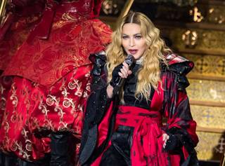 Madonna performs at her