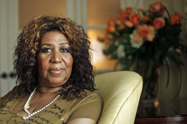 In this July 26, 2010, file photo, Aretha Franklin is shown in Philadelphia.