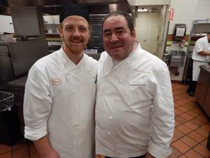 Chef de cuisine James Richards and Emeril Lagasse at Table 10 on Sunday, Oct. 25, 2015, in Palazzo.