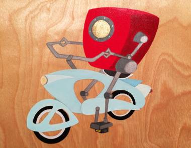 Hammer & Cycle's art auction raises funds for bicycles for local children in need.