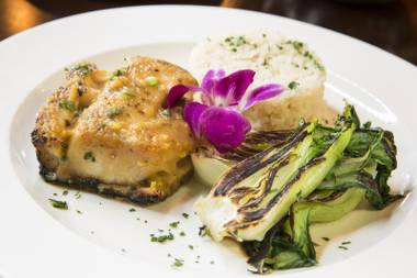 The restaurant offers an array of Mediterranean dishes as small plates along with more traditional entrée options.