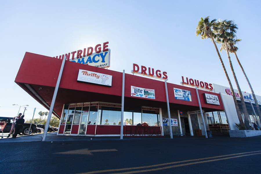 Dapper Companies recently purchased three properties in the historic Huntridge area of Downtown Las Vegas and has started redeveloping them. Shown is 1120 E. Charleston Blvd., the Huntridge Shopping Center, on November 19, 2015.
