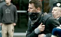 "Channing Tatum in ""Battle in Seattle."""