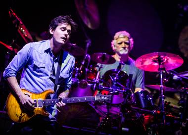 Mayer held his own, meshing with the band and producing dazzling solos that felt connected to Jerry Garcia's legacy.