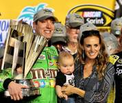 Kyle Busch of Las Vegas wins the Ford EcoBoost 400 and Sprint Cup Series championship Sunday, Nov. 22, 2015, in Homestead, Fla.