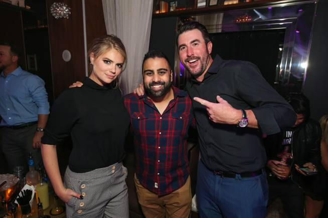 Kate Upton, Anup Patel and Justin Verlander on Tuesday, Dec. ...