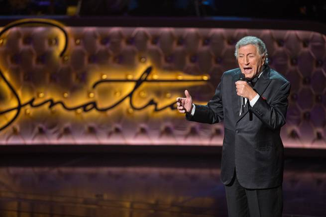 "Tony Bennett performs during ""Sinatra 100: An All-Star Grammy Concert"" on Wednesday, Dec. 2, 2015, at Wynn Las Vegas."