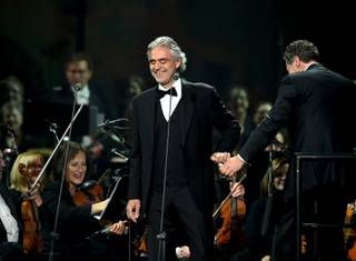 Andrea Bocelli headlines Saturday, Dec. 5, 2015, at MGM Grand Garden Arena.