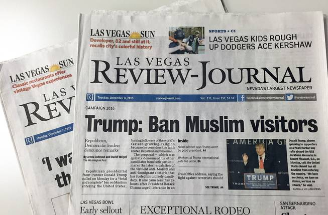 The Las Vegas Review-Journal has been sold less than a year after it was bought, the newspaper reported Thursday, Dec. 10, 2015.