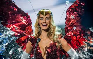 2015 Miss Universe Pageant national costumes Wednesday, Dec. 16, 2015, at Axis at Planet Hollywood. 2015 Miss USA Olivia Jordan is pictured here.
