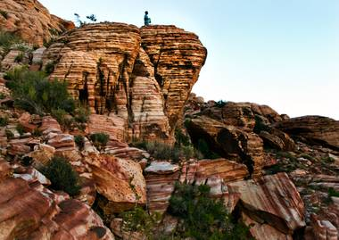 Holiday-time visitors in Las Vegas may enjoy a hike at the  Red Rock Canyon National Conservation Area on Sunday, December 20, 2015.