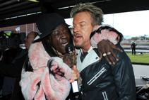 The Mike Hammer Celebrity Go-Kart Race benefiting Serving Hope Las Vegas on Sunday, Dec. 27, 2015, at Gene Woods Race Center. Flavor Flav and Chris Phillips are pictured here.