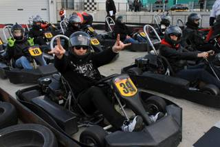 The Mike Hammer Celebrity Go-Kart Race benefiting Serving Hope Las Vegas on Sunday, Dec. 27, 2015, at Gene Woods Race Center.