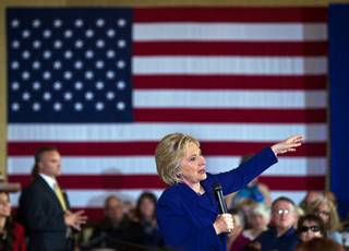 Hillary Clinton speaks at a grassroots organizing event Sun City Anthem Center on Wednesday, January 6, 2015.
