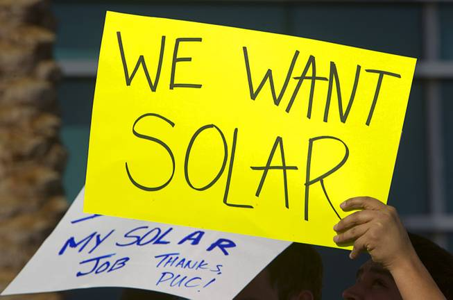 Solar Supporters Rally At PUC