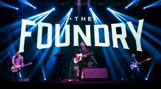 Ben Carey of Lifehouse, Daniel Park and Seth Thomas perform during a preview of the Foundry on Thursday, Jan. 14, 2016, at SLS Las Vegas.