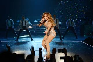 "Opening night of Jennifer Lopez's ""All I Have"" on Wednesday, Jan. 20, 2016, at Axis at Planet Hollywood."