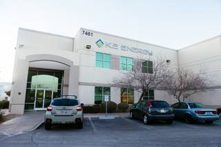 The exterior of K2 Energy Solutions in Henderson, NV on Jan. 20, 2016.