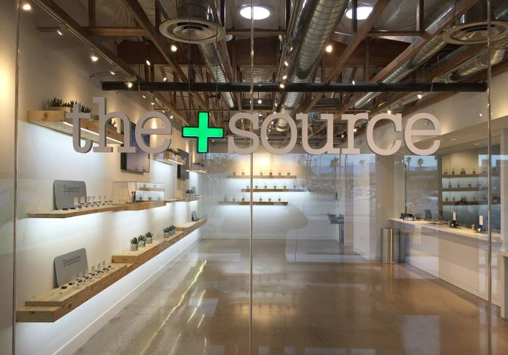 A view of the medical marijuana dispensary The+Source, which will open in North Las Vegas on Tuesday, Feb. 2, 2016.