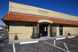 An exterior view of Sahara Wellness, at 420 E. Sahara Ave., Tuesday, Feb. 2, 2016. The facility is the the first all-female-owned medical marijuana dispensary in Las Vegas.