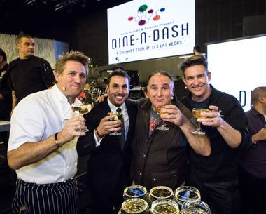 It was a double whammy when celebrity chef Jose Andres stormed into town for his first-ever Dine-N-Dash dinner crawl. Only this rambunctious and enthusiastic culinary king could turn a dine-around into an extraordinary eating extravaganza at SLS Las Vegas.