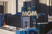 The exterior of The MGM Grand seen from Rivea at Delano Las Vegas on Feb. 2, 2016.