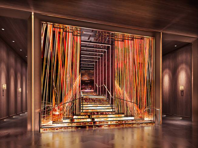 A rendering of Hakkasan Group's nightclub Jewel, which is going in the former space of Haze at Aria and opens May 19, 2016.