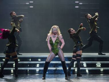 "Britney Spears' hit resident show ""Britney: Piece of Me,"" pictured here Friday, Feb. 19, 2016, has been refreshed at Axis at Planet Hollywood."