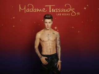 A wax figure of Justin Bieber is unveiled at Madame Tussauds Las Vegas at the Venetian in honor of his 22nd birthday, which is Tuesday, March 1, 2016.