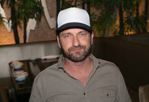 Gerard Butler at Planet Hollywood