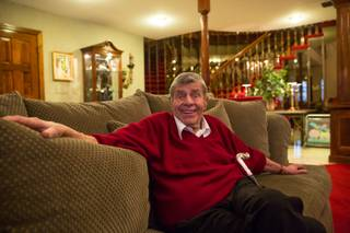 Entertainment legend Jerry Lewis photographed at his home Wednesday, Feb. 24, 2016, in Las Vegas.