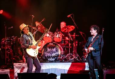 The original members of Santana are architects of so many rock 'n' roll traditions: Lengthy guitar jams. Thunderous percussive stops and starts. Calls from the stage for LSD intake. ...