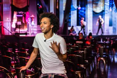 "Shangela takes a seat at a table near the performance stage of ""53X,"" and it is apparent instantly that this person is a singular embodiment of the show: She … is … hosting. ..."