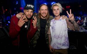 Justin Bieber and David Guetta at XS