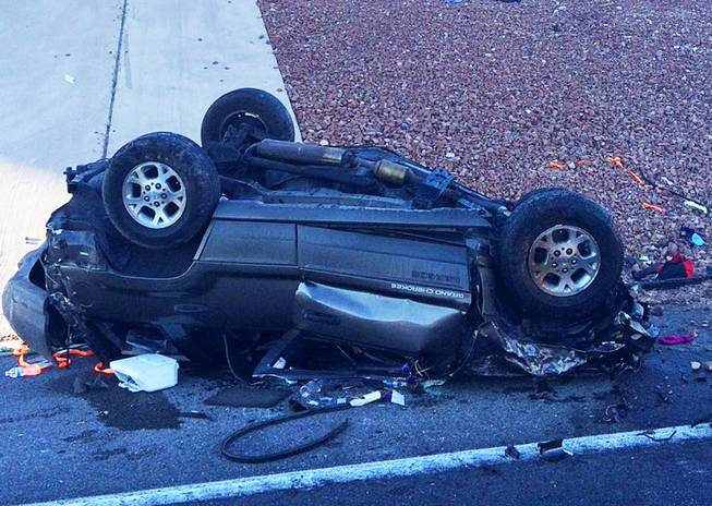 Woman, 20, killed in one-car crash at off-ramp from I-15 - Las Vegas