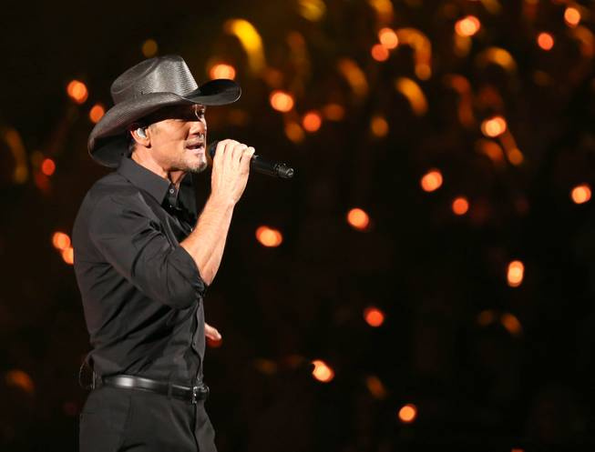 Tim McGraw performs during the 51st annual Academy of Country ...