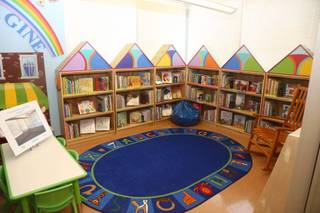 The Books for Kids/Mario Batali Foundation Library opens Tuesday, March 29, 2016, at Acelero Spring Valley Learning Center.