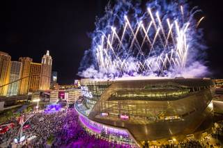 Opening night of T-Mobile Arena on Wednesday, April 6, 2016, on the Las Vegas Strip.