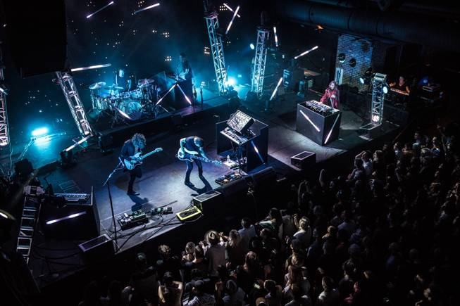 M83 headlines Brooklyn Bowl on Thursday, April 14, 2016, at the Linq Promenade.