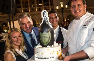 Dom Perignon Award of Excellence honoree Robert Goldstein at 2016 UNLVino Bubble-Licious on Thursday, April 14, 2016, at the Venetian.
