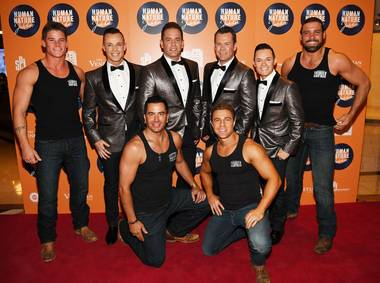 "The grand opening of Human Nature's ""Jukebox"" on Thursday, April 21, 2016, at the Venetian with Human Nature and cast members of Excalibur headliners Thunder From Down Under."