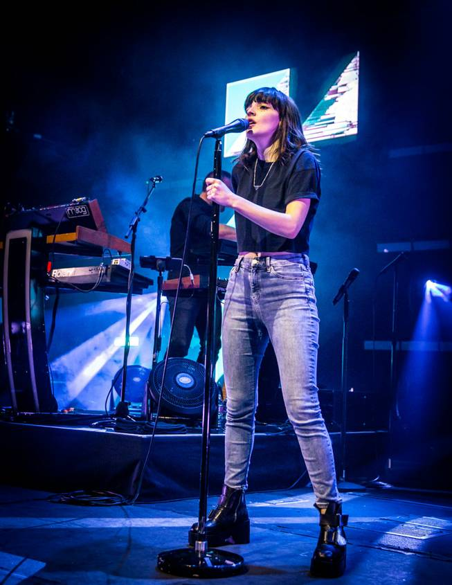 Chvrches headlines at Brooklyn Bowl Las Vegas on Thursday, April 21, 2016, at the Linq Promenade.