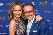 Chefs Giada De Laurentiis and Salvatore Calabrese appear on the red carpet before the Vegas Uncork'd Grand Tasting Friday, April 29, 2016, at Caesars Palace.