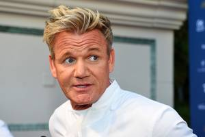 Chef Gordon Ramsay appears on the red carpet before the Vegas Uncork'd Grand Tasting Friday, April 29, 2016, at Caesars Palace.
